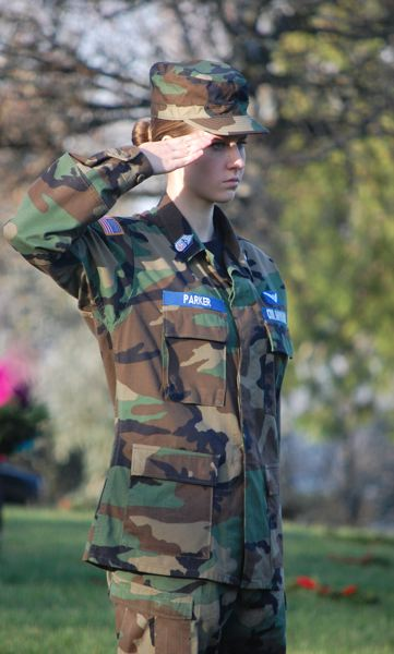 SUBMITTED PHOTO - Ellie Parker, a junior at Tualatin High School, is dressed in her Civil Air Patrol uniform.