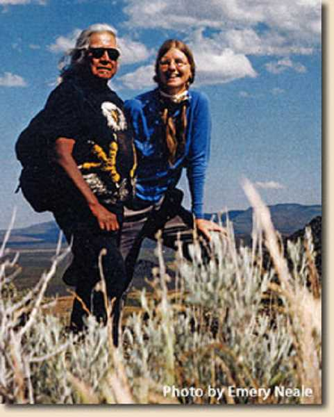 SUBMITTED PHOTO - Rod McAfee and Linda Neale visit Hatt Butte.