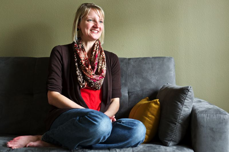 TIMES PHOTO: JAIME VALDEZ - Jen Knight runs Portland Moms Blog from her home in Tigard.