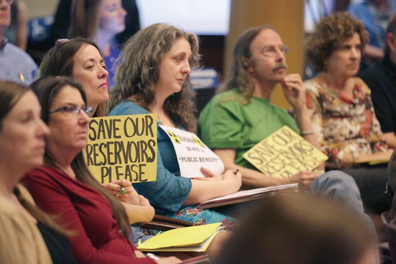 PORTLAND TRIBUNE: JONATHAN HOUSE - Most witnesses told the City Council to keep using the Mt. Tabor reservoirs at last Thursday's hearing.