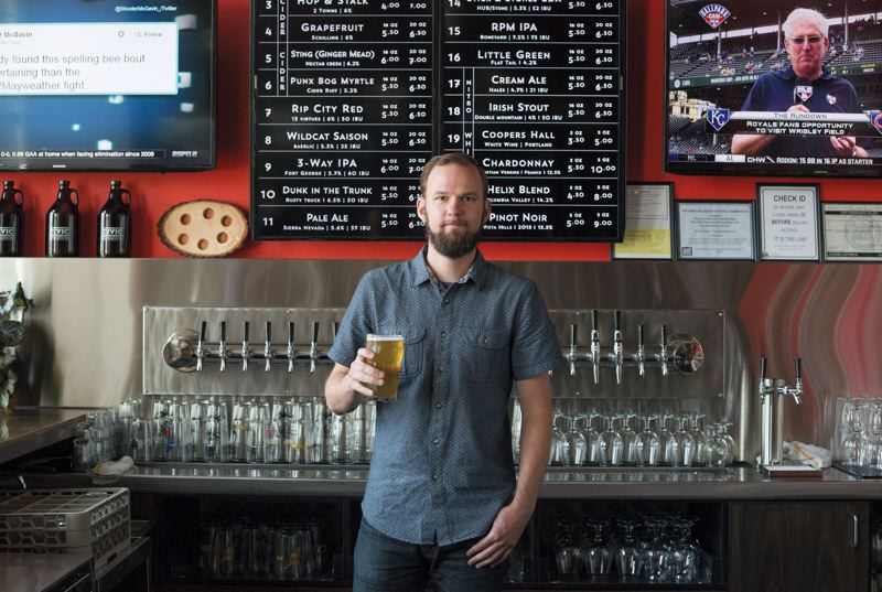 TRIBUNE PHOTO: JONATHAN HOUSE - Sean Hiatt, general manager of The Civic Taproom, opened six months ago a block away from Providence Park. As Portlands love affair with craft beer continues to grow, new brewers fill the niche.