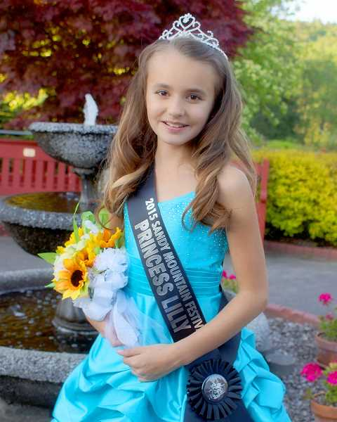 POST PHOTO: KYLIE WRAY - Lilly, 10, was nominated and voted Fourth Princess on the 2015 Five Generation Court.