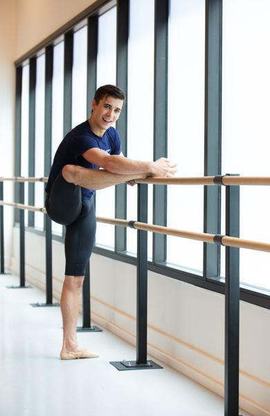 TIMES PHOTO: JONTHAN HOUSE - Nick Jurica has been a ballet dancer for five years, and was one of 12 young men selected for Juilliard School's dance class of 2019.