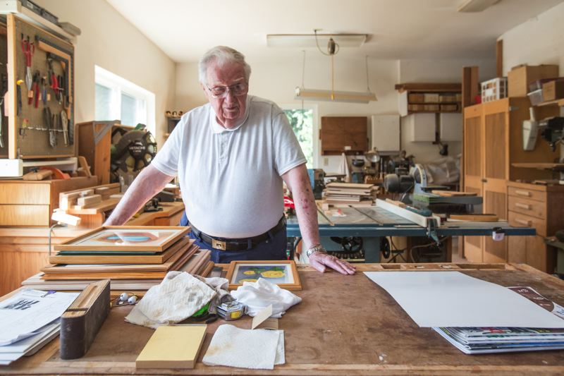 TIMES PHOTO: JONATHAN HOUSE - Art Barry, an 82-year-old Tualatin resident, had this wood shop built after he retired at age 70.