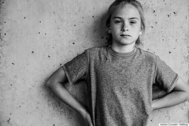 SUBMITTED PHOTO: ANDREA CORRADINI - This photo of Tess French, 11, ran at the top of a story in The Huffington Post and was originally featured as part of Wildfang clothing company's positive campaign supporting strong young women.