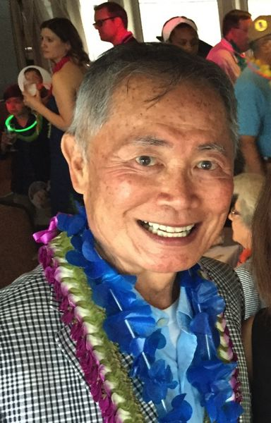 PAMPLIN MEDIA GROUP PHOTO - George Takei, aboard the Portland Spirit, after speaking at Tom McCall Waterfront Park.