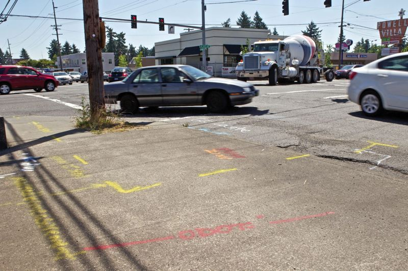 TRIBUNE FILE PHOTO - The intersection of Southeast Powell Boulevard and 122nd Avenue is one of the most dangerous in the state. ODOT has pledged $17 million for Powell Boulevard improvements.
