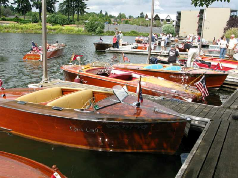 SUBMITTED PHOTO - Classic wooden boats already in Oswego Lake will be joined by dozens more at the 16th annual Oswego Heritage Council Collector Car & Classic Boat Show.