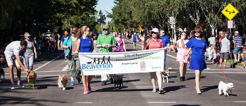 COURTESY CITY OF BEAVERTON - Beaverton-area residents who want to walk their dogs in the annual Beaverton Celebration Parade must sign up to do so by Aug. 28.