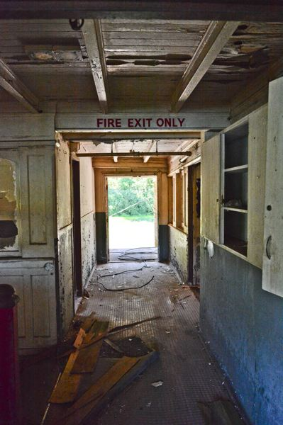 JOHN WILLIAM HOWARD - The hallway at the top of the forward staircase remains clear despite years of neglect. Should owner Clay Jonak move forward with his project, the upper deck would be removed.