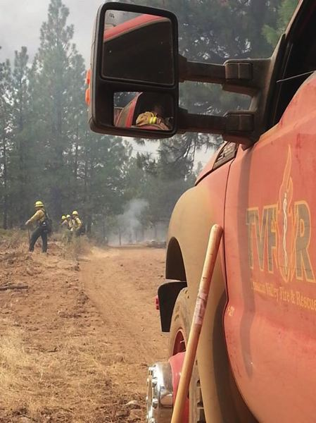 SUBMITTED PHOTO - Tualatin Valley Fire & Rescue has sent more than a dozen firefighters to help tackle wild fires all across the state, including John Day, Warm Springs and Baker City.