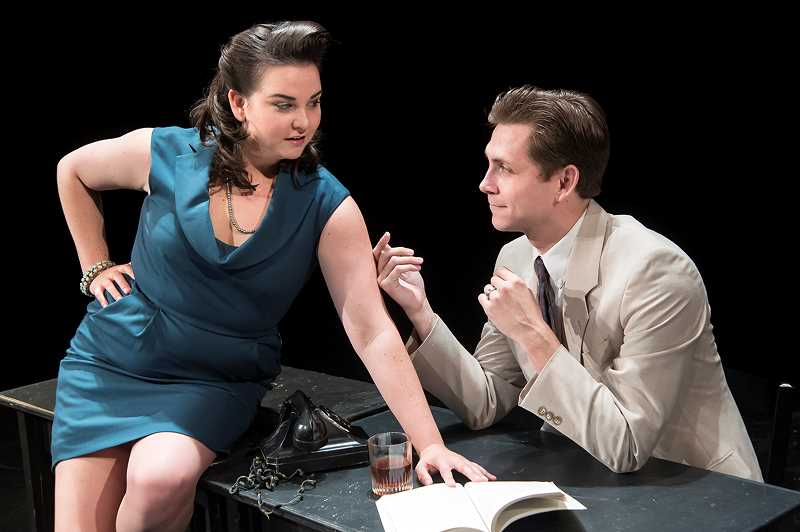 Jessie Walters as Mary and Andrew Beck as Eddie illustrate some of the challenges women faced working with men in the 1950s.
