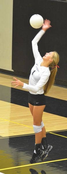 JOHN BREWINGTON - Hannah Spears has been a mainstay for the powerful Lady Lions volleyball team this season.