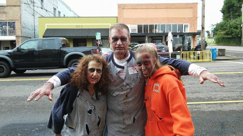 PHOTO COURTESY OF SHOESTRING COMMUNITY PLAYERS - Zombies will take over city parks and downtown St. Helens during the Monster Dash. Organizers expect over 130 zombies and almost 200 runner to participate this year.