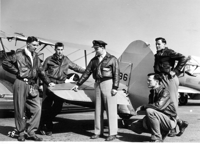 SUBMITTED PHOTO - Jay McIntosh, left, then a pilot and second lieutenant in the U.S. Air Force, was photographed with some of his B-17 bomber crew members who flew missions against Germany during World War II.