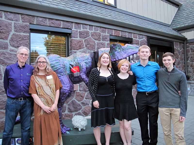 HILLSBORO TRIBUNE PHOTO: MICHAEL SPROLES - Mark Walker, Christine Martell, Claire Edington, Bronwyn Grover, Nick Ogden and Luke South show that Arty has heart.