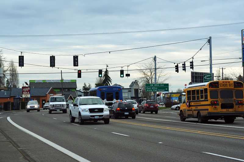 HILLSBORO TRIBUNE FILE PHOTO - Road construction is set to begin to improve traffic flow and safety in the area of Southwest Tualatin Valley Highway and 185th Avenue.