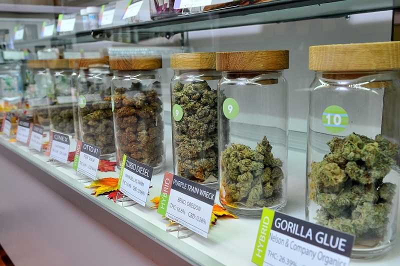 REVIEW PHOTO: VERN UYETAKE - Several varieties of marijuana line the glass cases at Divine Kind. For a long time, Ive been a strong advocate and educator in this community, shop owner Al Ochosa says. Im trying to better educate people about cannabis and responsible use.