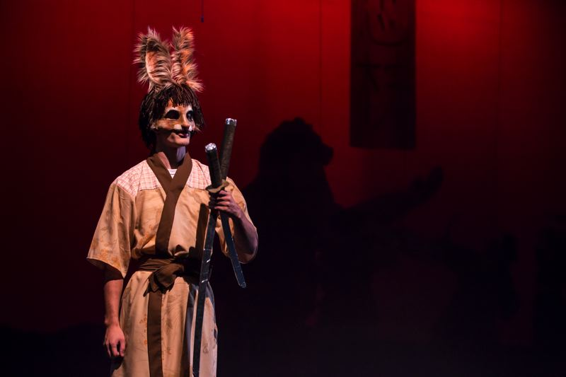 TIMES PHOTO: JONATHAN HOUSE - Former Tigard High student Kyle Menzies plays the Brown Bunny in the PCC Sylvania production of 'Usagi Yojimbo.'
