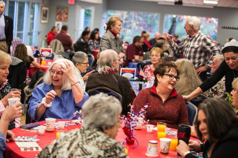 TIMES PHOTO: JONATHAN HOUSE - Veterans, friends and family enjoyed a recognition breakfast on Monday at Tualatin's Juanita Pohl Center.