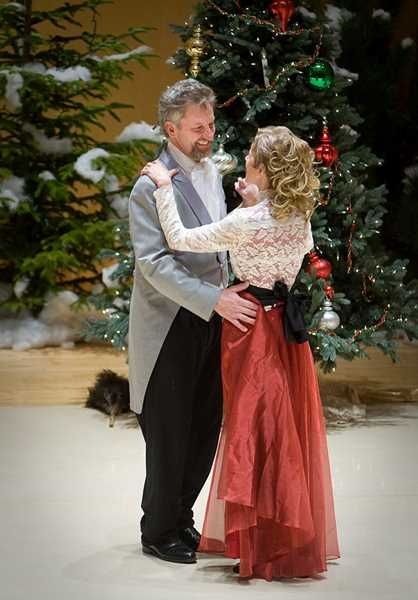COURTESY PHOTO: FOREST GROVE DANCE ARTS - Mike Johnson, who loved to dance, joined his wife, Anya Doll, for a twirl across the stage during a performance of The Nutcracker in Forest Grove several years ago.