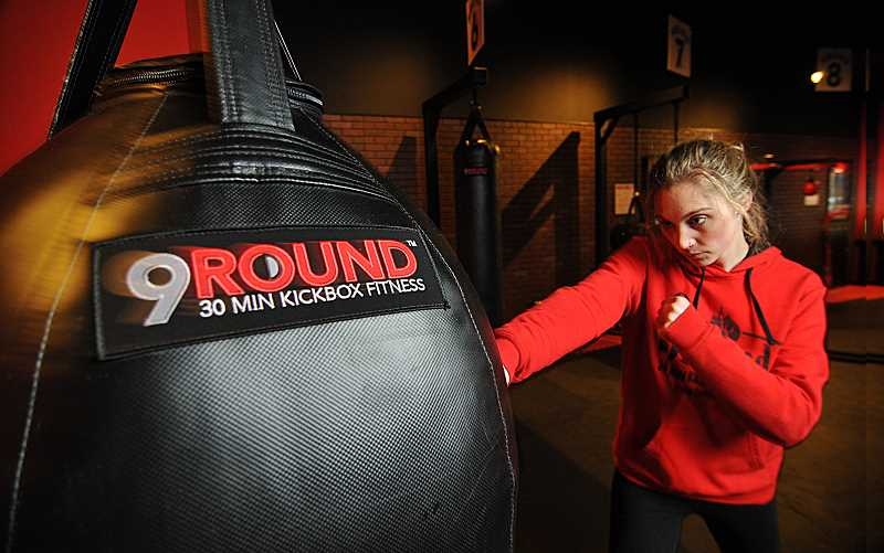 STAFF PHOTOS: VERN UYETAKE  - Tess Nelson practices her punches.