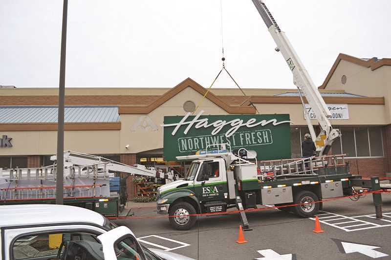 PAMPLIN MEDIA GROUP - An Albertsons supermarket is converted to Haggen earlier this year. Haggen plans to auction off its remaining stores in early 2016 as part of bankruptcy proceedings.