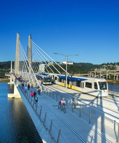 PORTLAND TRIBUNE FILE PHOTO - The City of Bridges' newest bridge, Tilikum Crossing, opened to fanfare this fall.