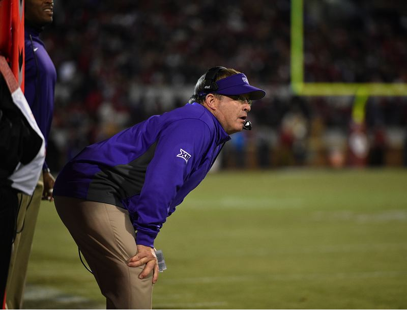 COURTESY: TCU - Gary Patterson, coach of the Texas Christian Horned Frogs, says all the media talk about suspended quarterback Trevone Boykin hasn't been fair to the rest of his team or to Saturday's Alamo Bowl against Oregon in San Antonio, Texas.