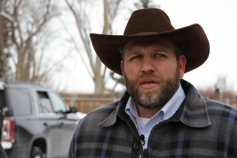 COURTESY PHOTO: AMANDA PEACHER/OPB - Ammon Bundy of Nevada, who is occupying the federal wildlife refuge building with about two dozen militiamen, says his group plans to remain in Harney County 'for several years.'