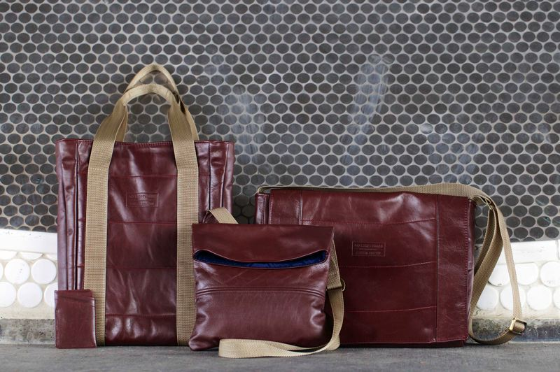 COURTESY: LOOPTWORKS  - Looptworks' new 'Carry-on Collection' features bags made from Horizon Airlines leather seats.