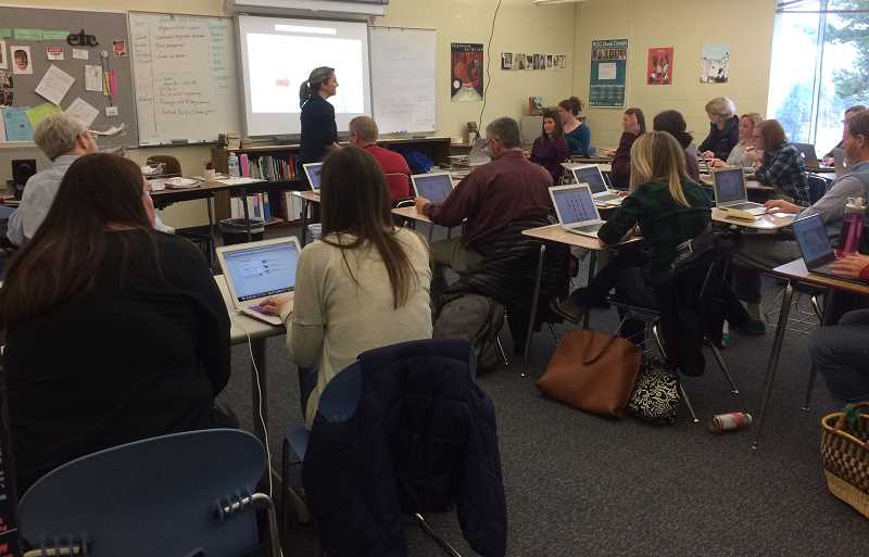 SUBMITTED PHOTO: NANCY DUIN - Educators became students during a two-day professional development conference at Lakeridge High School.