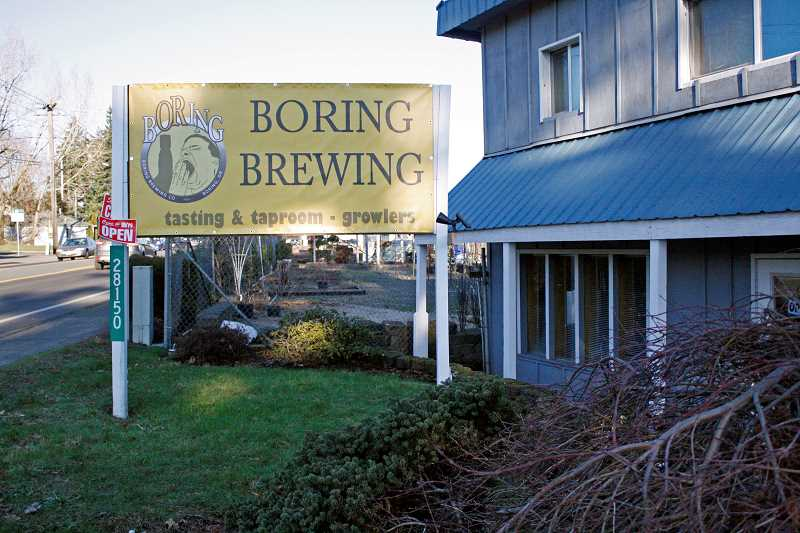 POST PHOTO: KYLIE WRAY - The Boring Brewing taproom is located on Highway 212 in downtown Boring.