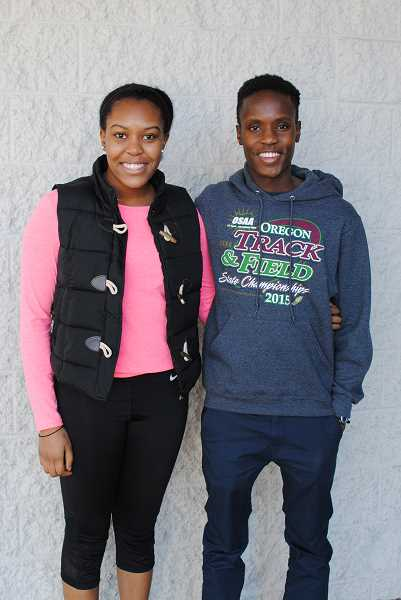 NEWS-TIMES PHOTO: STEPHANIE HAUGEN - Murimi and Karimi Nyamu spent some time together over winter break. Murimi is a senior at Forest Grove High School and Karimi is a freshman at West Point.