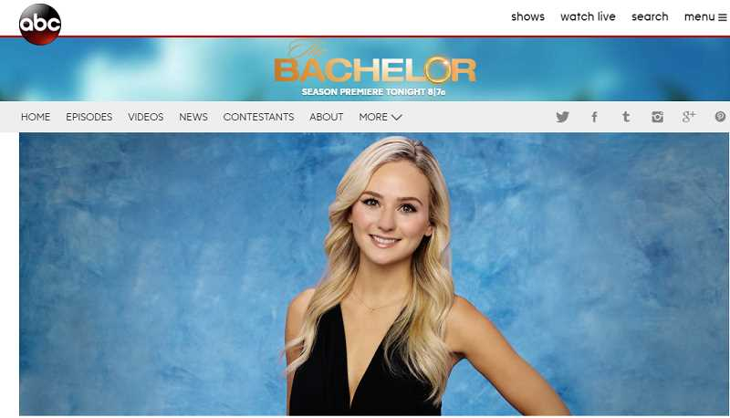 PHOTO COURTESY ABC - Lauren Bushnell, Alaska Airlines flight attendant and West Linn native, is featured in this season's reality show. 'The Bachelor.'