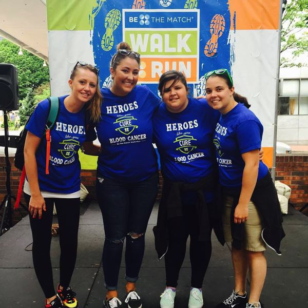 CONTRIBUTED PHOTO: MHCC NURSING STUDENTS - Mt. Hood Community College nursing students (from left to right) Krista Carter, Hannah Palodichtk, Cassandra Raines  and Ashlee Rosebrook walk and run for Be the Match earlier this year.