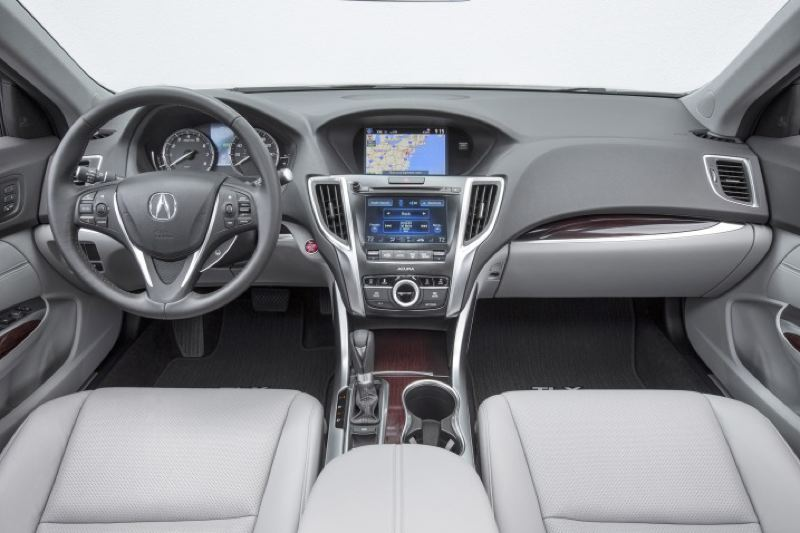 AMERICAN HONDA MOTOR COMPANY - The split screen infotainment system in the 2016 Acura TLX helps keep the dash clean and simply.