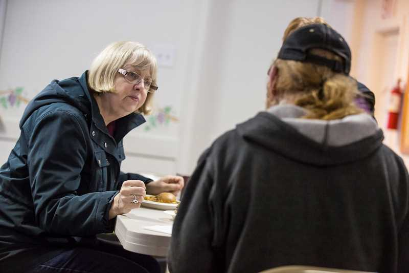 TIMES PHOTO: JONATHAN HOUSE - Sue Stephens, who runs the Just Compassion day center at Tigard Foursquare Church, says the center will one day be open seven days a week.
