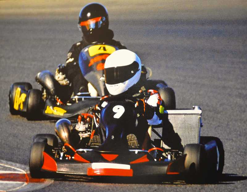 SUBMITTED PHOTO - Sammi VanEaton takes a turn during a shifter kart race.