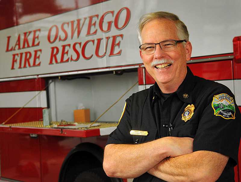REVIEW PHOTO: VERN UYETAKE - Larry Goff has served in a variety of roles with the Lake Oswego Fire Department, with a particular focus on emergency management. On Saturday, he'll officially become fire chief.