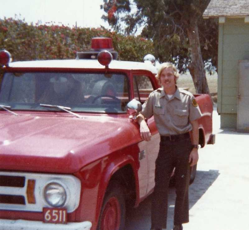 SUBMITTED PHOTO - After he graduated from high school, Larry Goff worked for the California Department of Forestry and Fire Protection, known as CALFIRE, helping fight fires in the nearby Los Padres National Forest and in San Bernardino.