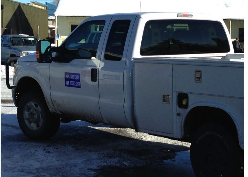 COURTESY OF HARNEY COUNTY SHERIFF'S OFFICE - A truck belonging to U.S. Fish and Wildlife was recovered Friday during the first arrest associated with the two-week standoff at the Malheur National Wildlife Refuge.