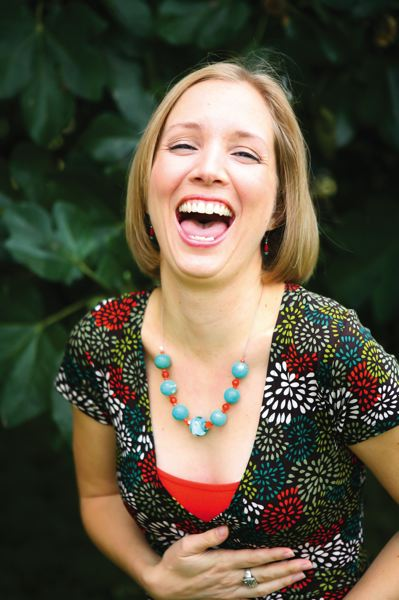COURTESY PHOTOS - The godmother of Portland Laughter Yoga is Andrea Crisp, who confides, It would save me from the disorder of living. I got training in Laughter Yoga, and it was such a powerful experience.