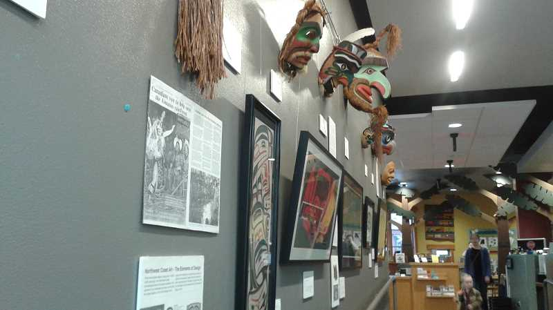 CONTRIBUTED PHOTO - A current exhibit  at the Sandy Public Library features examples of artwork from Native American Tribes along the Northwest coast. The collection will remain on display through February.