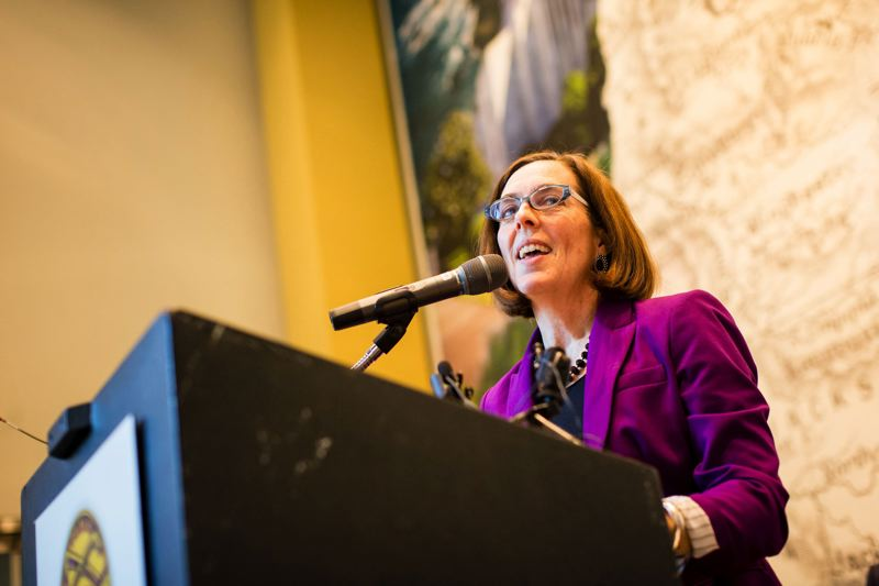TRIBUNE FILE PHOTO - Gov. Kate Brown says she is not trying to negotiate an alternative to a proposed gross receipt tax that could be on the ballot in November.