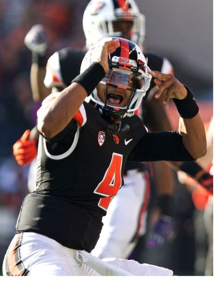 TRIBUNE FILE PHOTO: JAIME VALDEZ - Seth Collins started the 2015 season as Oregon State's starting quarterback. He now has left the program, wanting to continue playing the position.