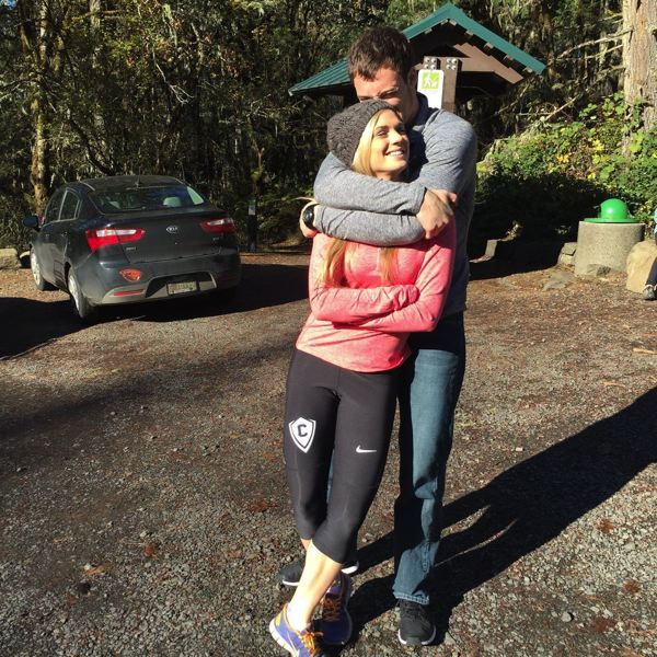 COURTESY: SCHLATTER FAMILY - AJ Schlatter gives girlfriend Maddie Prehoda a hug.