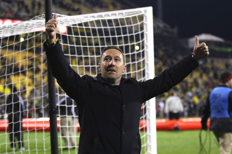 TRIBUNE FILE PHOTO: JAIME VALDEZ - Portland Timbers coach Caleb Porter has a contract extension to stay with the MLS defending champions.