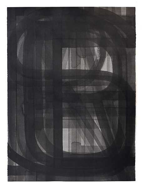 SUBMITTED PHOTO:  - Three Triangles and Three Colors by Pat Boas, made of sumi ink on paper.