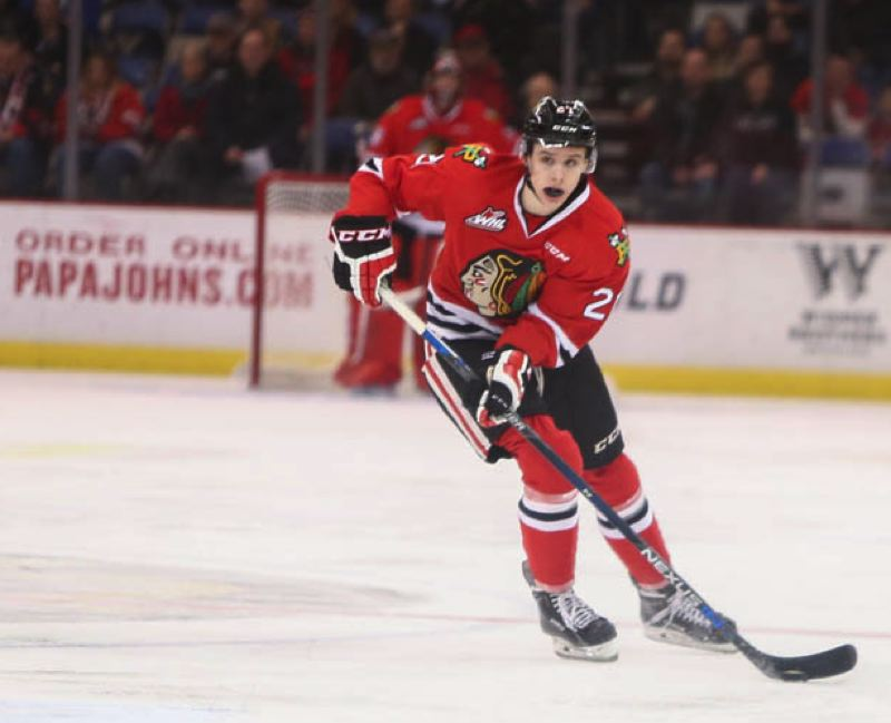 COURTESY: DAYNA FJORD/PORTLAND WINTERHAWKS - Defenseman Brendan De Jong of the Portland Winterhawks is on NHL scouts' radar.